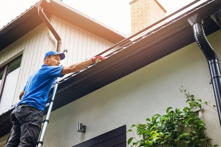Gutter cleaning by professionals